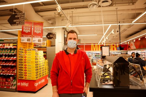 Butikksjef Tord Carlsen.