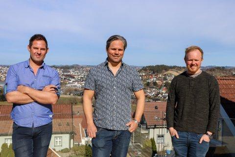 Kjell Ove Sunde, Trond Løland og Eivind Aarstad har flere spennende prosjekt i vente.