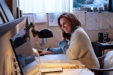 Arkitekt Manuela Hardy AS står bak mange spennende prosjekt som hun tegner fra hjemmekontoret.