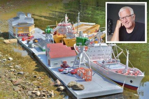 Bjørn Halvor Enciso Kvilhaug har brukt fire år på å ferdigstille Sandnes havn i miniatyrversjon.