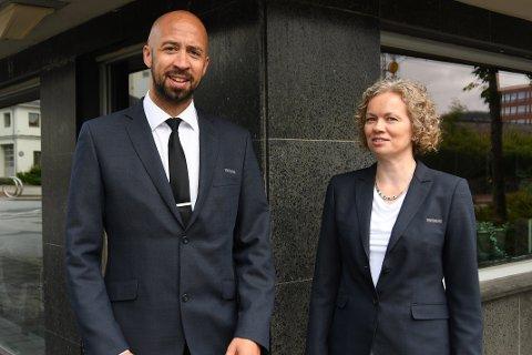 Daniel dos Santos og Cecilie Thoresen vil drive Sandnes-kontoret.