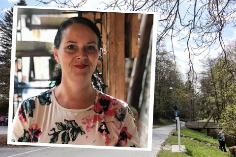 PARKEN: For Tanja Torsvik er Sandvedparken et viktig sted. Her jobber hun som personlig trener, her er hun medarbeider i kafeen.