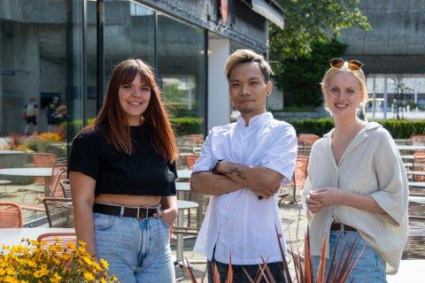 Ine Bitnes, Endroe Edrolin og Emilie Dahle ser fram til å kunne lage fest i Langgata i anledning BLINK21.