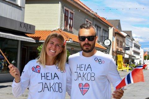 Christina og Kristoffer Ingebrigtsen skal feire Jakobs velfortjente OL-gull.