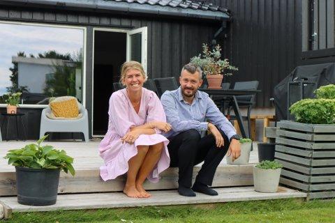 Christina (30) og Kristoffer (33) Ingebrigtsen visste helt siden de kjøpte huset på Lura at de ville bygge på det, når tiden var inne.