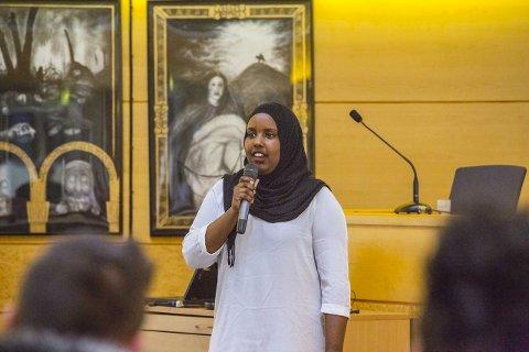 NYKOMMER: Naima Alasow sto på 24 plass, men fikk nok personstemmer til at hun fikk bystyreplass. FOTO: Vetle Magelssen