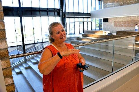HAR SLUTTET: Rektor Lise Kristel Karlsen ved Sandesundveien skole.