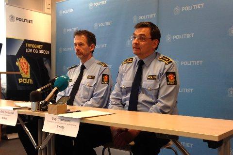 INFORMERTE: Tom Erik Guttulsrød og politidirektør Espen Jamissen.