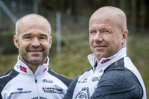 STOLTE: Arvid Moen (t.v.) og Lars Erik Svendsen er stolte over at de kan tilby heftige pengepremier i Skjebergrittet, og de er opptatt av at rittet skal være en eksklusiv vare.