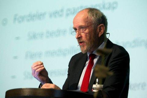 Fylkesordfører Ole Haabeth under åpningen av Østfoldkonferansen 2016,