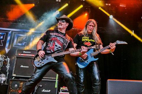Til Sweden Rock: Bernt Jansen (t.v.) og Geir Nilsen i Artch, er klare for sommerens Sweden Rock Festival. Her spiller de på Tons of Rock i Halden i 2015.
