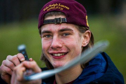 TATT UT: Kalle Rode ble tatt ut til Ungdoms-OL torsdag formiddag da en av spillerne på ishockeylaget ble skadet.