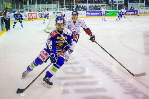 TAP: Etter fem- og en halv periode med hockeykrig måtte Sander Thoresen og hans U20-kamerater se seg slått av Lørenskog.