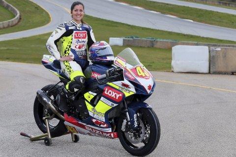 TILBAKE: Caroline Olsen er tiklbake for fullt på sykkelen etter en dramatisk ulykke. Hun er proffsyklist i USA.