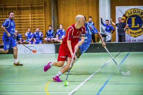 Seiret: Lars Erik Torp slo Grei 6–2 under sesongens første hjemmekamp i Tindlundhallen søndag kveld. foto: Vetle Granath Magelssen