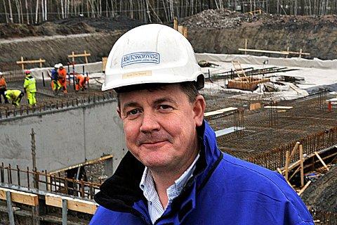 NYTT FIRMA: Arne Christian Skard er daglig leder i Byhaven AS, et selskap som planlegger boligbygging i Sarpsborg sentrum.