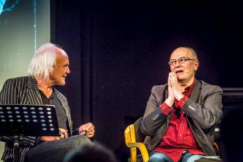 INTERESSANT: Harald Otterstad (t.v.) ønsket å fortelle historien om komponist, låtskriver og produsent Svein Gundersen (t.h.). – Han er en interessant person, sa Otterstad.