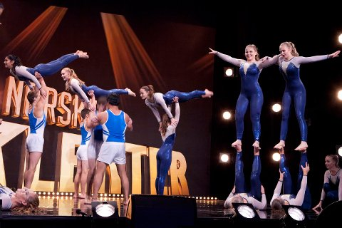 Premiereklare: Akrobatikktroppen Flying High fra Sarpsborg er med i Norske talenter på TV2 fredag.