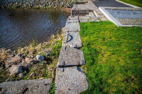 VEDLIKEHOLD: Hansen håper Sarpsborg kommune kan ruste opp området i Pæddekummen.