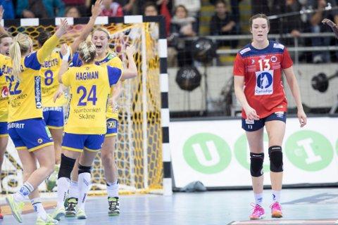 Kari Brattset etter tap mot Sverige i EgeTrans arena fredag.