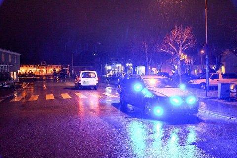 PÅKJØRT: En fotgjenger har blitt påkjørt ved Tista senter.