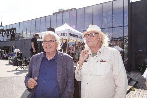 På jazzutflukt: Egil Syversen (til venstre) og Ørnulf Ødegaard tok turen fra Fredrikstad for å overvære Robert Normann-festivalen.