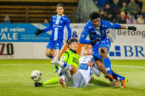 GAMMEL KJENNING: Den tidligere Sarpsborg 08-spissen Aaron Samuel skal være nær en overgang til Molde. Spissen scoret i sin tid 13 mål for Sarpsborg 08.