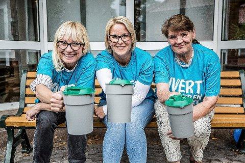 TRENGER FLERE: Innsamlingskomiteen i Sarpsborg, Regine Hansen, Helene Lengfelder og Lisbeth Nesteng, håper flere sarpinger melder seg til tjeneste.