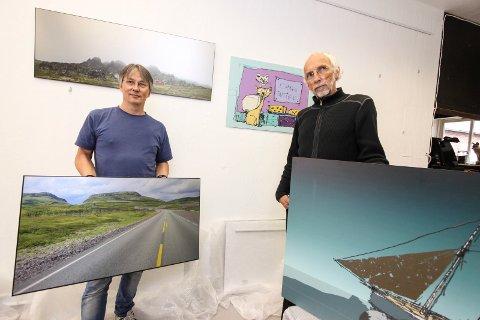 Duoutstilling: Rolf Aikio (til venstre) og Odd Fyhn er klare med utstillingen «Hybris 2017».
