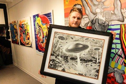 Ny utstilling: Are Buraas (bildet) og Benjamin Mørk står bak utstillingen «Nye spor 2018», som åpner i galleri Hos Anette lørdag 13. januar.