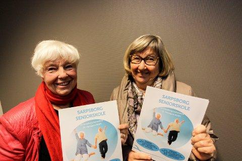Nytt semester: Britt Paulsen (til venstre) og Solveig Hovde Martinsen i Sarpsborg seniorskole opplyser at de starter opp igjen 15. januar.