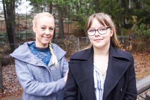 Samarbeid: Kristine Erøy (til venstre) har hjulpet Pernille T. Olsen med låten «Can't See».