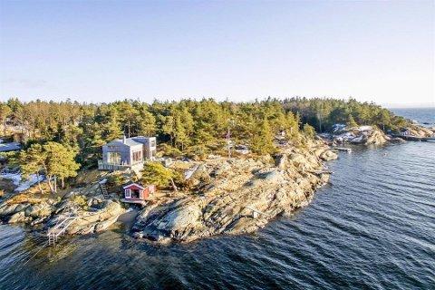 Denne hytta på Øketangen ble Sarpsborgs dyreste bolig/fritidseiendom i 2018.