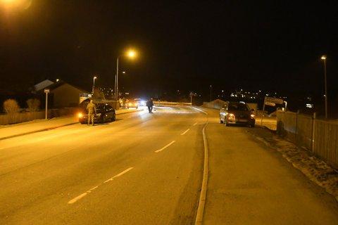 Minst to biler var involvert i ulykken ved Bergheim mandag kveld.