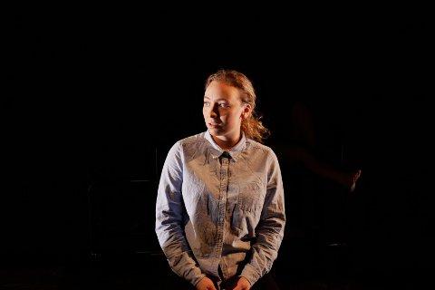 Scenedrøm: Frida Helene Hansen har alltid drømt om et liv på scenen. Her fra en skoleforestilling ved Högskolan för scen og musik i Göteborg.