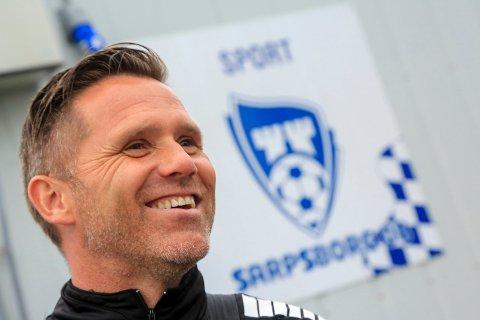 Gleder seg: Sarpsborg 08s assistenttrener Tom Freddy Aune gleder seg med spillerne til matchen torsdag kveld i Rijeka.