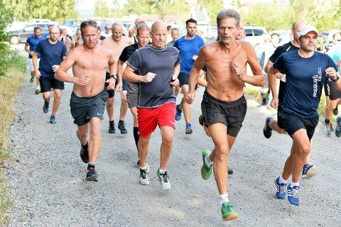Full FART: 53 løpere var med under siste utgave av Torsdagsløpet i Kalnesskogen.