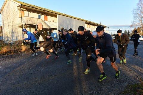 MOSJONSLØP: Det var nesten 30 deltagere i Torsdagsløpet også denne uken.