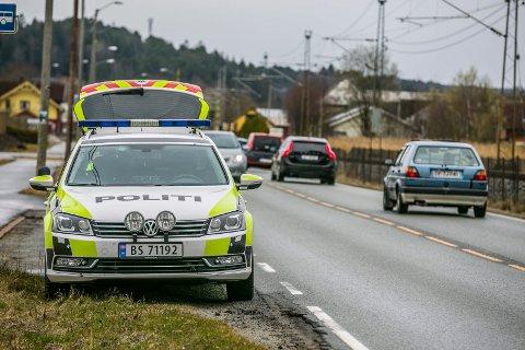 UP: Utrykningspolitiet holder ofte kontroller på fylkesvei 118 i Skjeberg.