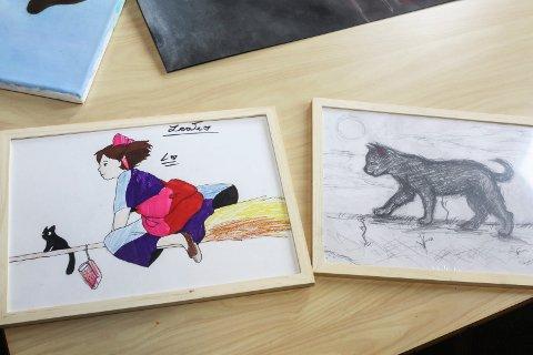 Talent: Her er ytterligere to tegninger gjort av Leah Tran.