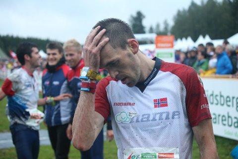 UFATTELIG SKUFFET: Magne Dæhli klarte ikke fire på rad. I år kom han inn på femteplass på VM-stafetten.