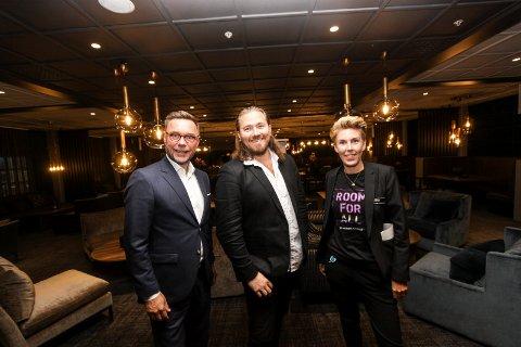 Jul på Quality: Direktør ved Quality Hotel, Øyvind S. Hagen, Stian Joneid og markedssjef Therèse Thomassen gleder seg til julen på Quality i år.