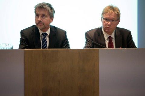 CEO og president i Borregaard, Per A. Sørlie (th) og CFO, Per Bjarne Lyngstad, har begge millionverider i aksjer i Borregaard.
