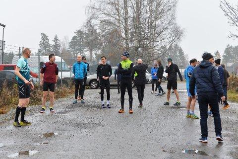MANGE LØPERE: Det er fortsatt god deltagelse i Torsdagsløpet selv om det nærmer seg slutten på sesongen.