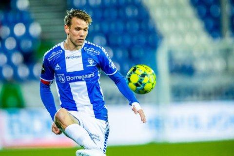 Sarpsborg 08s Ole Jørgen Halvorsen i kampen mellom Sarpsborg 08 og Viking. Foto: Thomas Andersen