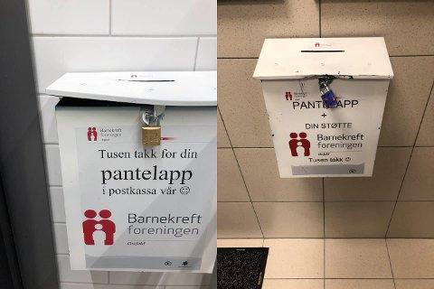 Barnekreftforeningen fortviler etter at tolv pantelappkasser i Østfold er brutt opp.