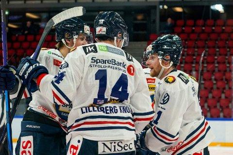 Sparta jubel: Comebacket ble en eneste stor jubel for Sparta Sarpsborg tirsdag. Noe også hele Hockey-Norge viste å verdsette etter problemene klubben har hatt.