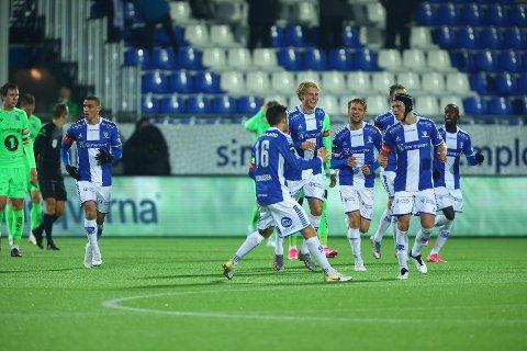 Sarpsborg 08-innbytter Sebastian Jarl ordnet utligning til 1-1 i det 85. minutt. Dermed fikk Sarpsborg 08 med seg ett viktig poeng i hjemmekampen mot et medaljejagende Kristiansund onsdag kveld. (Foto: Thomas Andersen)