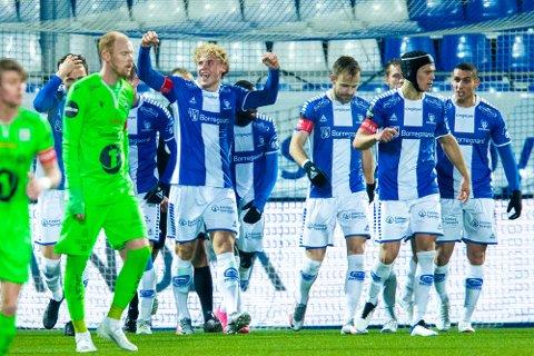 Tilbake: Sarpsborg 08s Sebastian Jarl og de øvrige spillerne får igjen trene på Sarpsborg stadion.