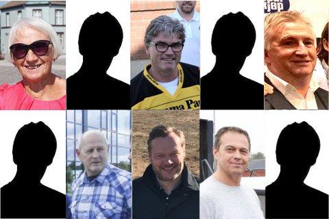 Det er både profilerte og ikke så profilerte personer på fjorårets inntektstopp. Oppe fra venstre: Gerd Ruud, Martin Iversen, Robert Palacio, Magnar Huse, Håkon Tegneby og Ronny Antonsen.